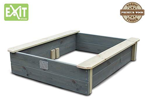 EXIT Aksent Sandkasten mit Deckel / Material: Nordische Fichte / Maße: 94 x 77 x 20 cm / Gewicht: 16 kg - 4