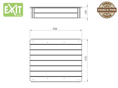 EXIT Aksent Sandkasten mit Deckel / Material: Nordische Fichte / Maße: 94 x 77 x 20 cm / Gewicht: 16 kg - 5
