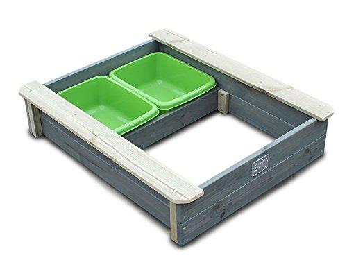 EXIT Aksent Sandkasten mit Deckel / Material: Nordische Fichte / Maße: 94 x 77 x 20 cm / Gewicht: 16 kg - 1