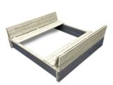 EXIT Aksent Sandkasten XL / mit Deckel = kann zu 2 Bänken umfunktioniert werden / Nordisches Fichtenholz / Maße: 132 x 135 x 20 cm / 27,8 kg - 1