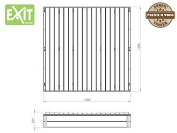EXIT Aksent Sandkasten XL / mit Deckel = kann zu 2 Bänken umfunktioniert werden / Nordisches Fichtenholz / Maße: 132 x 135 x 20 cm / 27,8 kg - 3