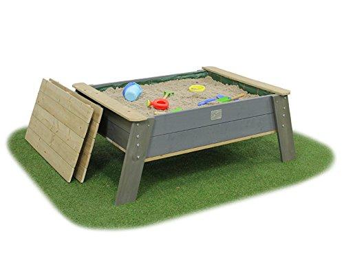 EXIT Aksent Sandtisch XL auf Füßen mit Deckel / Material: Nordisches Fichtenholz / Maße: 138 x 94 x 50 cm / Gewicht: 30 kg / ab 3 Jahre -