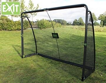 EXIT Finta Goal 41.07.10.00 / Finta Fußballtor inkl. Torwand / Maße: 300cm x 200cm x 90cm / Tor-Gewicht: 31 kg -