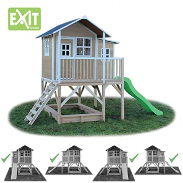 EXIT Loft 550 Holzspielhaus - Naturel - 4
