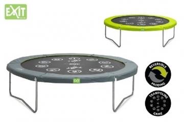 EXIT Twist Trampolin grün/grau Ø 305 cm mit Sicherheitsnetz -