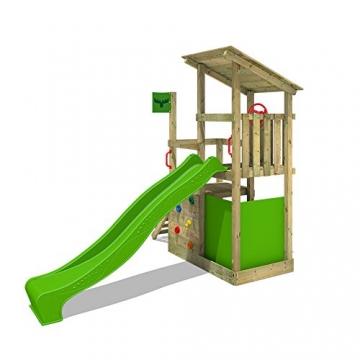 FATMOOSE Kletterturm FruityForest Fun XXL Spielturm Klettergerüst 3 Spielebenen, Rutsche und Sandkasten - 2