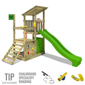 FATMOOSE Kletterturm FruityForest Fun XXL Spielturm Klettergerüst 3 Spielebenen, Rutsche und Sandkasten - 3