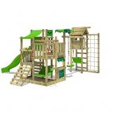 FATMOOSE Spielturm BananaBeach Big XXL Kinder-Spielplatz mit Turmanbau inkl. Holzdach Schaukel Rutsche Sandkasten Hängematte Kletternetz und unbegrenzten Spielmöglichkeiten - 1