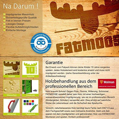 FATMOOSE Spielturm GroovyGarden Combo XXL Baumhaus Stelzenhaus mit großem Sandkasten, Rutsche und Schaukelanbau - 6