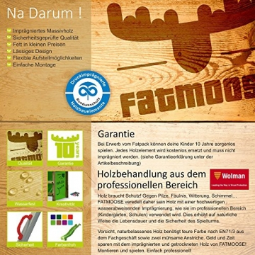 FATMOOSE Spielturm MagicMonkey Ultra XXL Kletterturm Baumhaus mit Schaukel und apfelgrüner Rutsche - 4