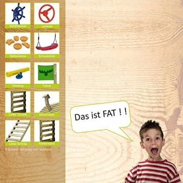 FATMOOSE Spielturm MagicMonkey Ultra XXL Kletterturm Baumhaus mit Schaukel und apfelgrüner Rutsche - 6