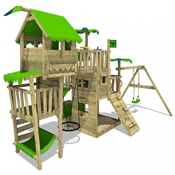 Fatmoose spielturm tropictemple tall xxl kletterturm for Gartenpool mit rutsche