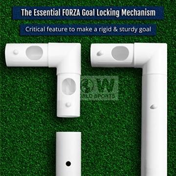 FORZA - 1,8 x 1,2 m wetterfestes Fußballtor. Neu: auch mit abnehmbarer Torwand bestellbar! [Net World Sports] (Forzator 1.8x1.2m mit Torwand) - 6