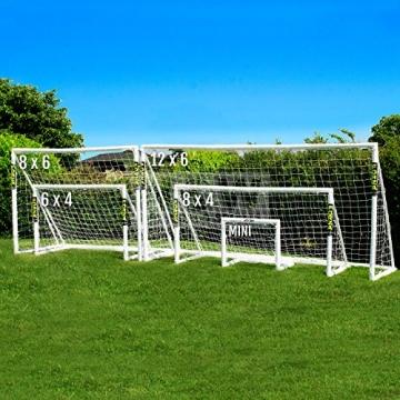 FORZA - 1,8 x 1,2 m wetterfestes Fußballtor. Neu: auch mit abnehmbarer Torwand bestellbar! [Net World Sports] (Forzator 1.8x1.2m mit Torwand) - 9