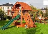 Fungoo Spielturm Giant-Move- Podesthöhe 145 cm mit 2,90 m Rutsche und Doppelschaukel - 1