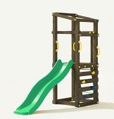 Fungoo Spielturm Molly mit grüner Rutsche 170cm, 03480 - 1
