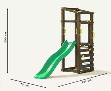 Fungoo Spielturm Molly mit grüner Rutsche 170cm, 03480 - 2