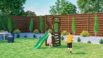 Fungoo Spielturm Molly mit grüner Rutsche 170cm, 03480 - 4