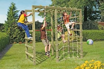 Gartenpirat Klettergerüst Spielgerüst aus Holz für den Garten mit Reck und Kletternetz - 3