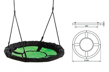 Gartenpirat Nestschaukel Ø 98 cm Belastbarkeit 150 kg sw/grün - 2