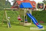 Gartenpirat Premium Spielturm S mit Schaukel und Sandkasten -