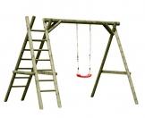 Gartenpirat Schaukel aus Holz Schaukelgestell Classic 2.1 mit Leiter - 1