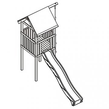 Gartenpirat Spielturm Alto mit Rutsche und Kletterseil 118 x 118 x 350 cm Holz KDI - 2