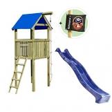 Gartenpirat Spielturm Alto mit Rutsche und Kletterseil 118 x 118 x 350 cm Holz KDI - 1