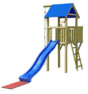 Gartenpirat Spielturm Eroberer 118x118x350 cm mit Rutsche 300 cm - 1