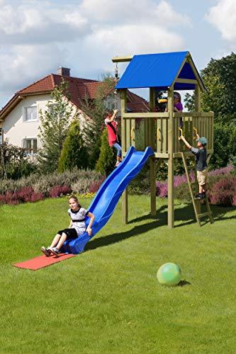 Gartenpirat Spielturm Eroberer 118x118x350 cm mit Rutsche 300 cm - 2