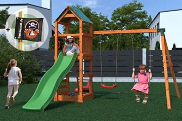Gartenpirat Spielturm Kletterturm Pirat T1 mit Schaukel und Rutsche - 2