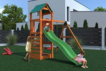 Gartenpirat Spielturm Kletterturm Pirat T1 mit Schaukel und Rutsche - 3