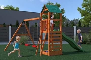 Gartenpirat Spielturm Kletterturm Pirat T1 mit Schaukel und Rutsche - 4