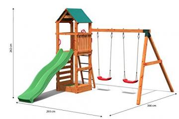 Gartenpirat Spielturm Kletterturm Pirat T1 mit Schaukel und Rutsche - 5