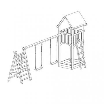 Gartenpirat Spielturm Premium XL mit Schaukel und Sandkasten - 2
