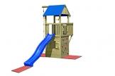 Gartenpirat Spielturm und Spielhaus Steuermann mit Balkon und Rutsche - 1
