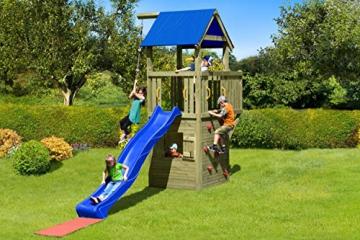 Gartenpirat Spielturm und Spielhaus Steuermann mit Balkon und Rutsche - 2