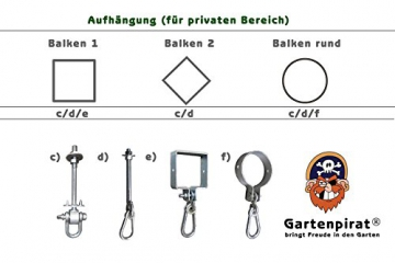 Gartenpirat Trapez Holztrapez für Schaukel Kinder - 3