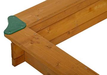 GASPO Sandkasten mit absenkbarem Dach Mickey II, Sandkiste mit schwenkbarem und absenkbarem Kurbeldach 140 x 140 cm einfaches Bausatzsystem, TÜV-geprüft - 6