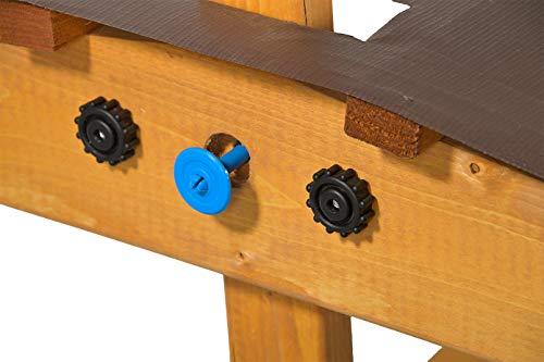 GASPO Sandkasten mit absenkbarem Dach Mickey II, Sandkiste mit schwenkbarem und absenkbarem Kurbeldach 140 x 140 cm einfaches Bausatzsystem, TÜV-geprüft - 7