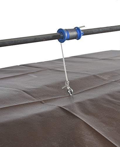 GASPO Sandkasten mit absenkbarem Dach Mickey II, Sandkiste mit schwenkbarem und absenkbarem Kurbeldach 140 x 140 cm einfaches Bausatzsystem, TÜV-geprüft - 8