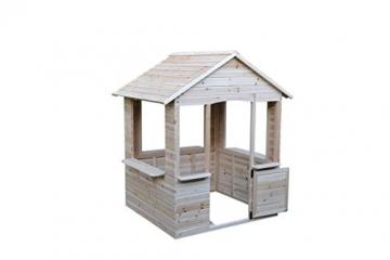 GASPO Spielhaus aus Holz   L 120 cm x B 107 cm x H 140 cm   Kinderspielhaus für den Garten und Drinnen - 2