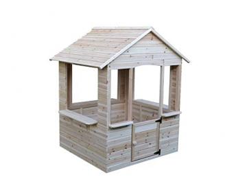 GASPO Spielhaus aus Holz   L 120 cm x B 107 cm x H 140 cm   Kinderspielhaus für den Garten und Drinnen - 1