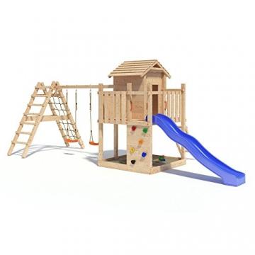 Gigantico spielturm kletterturm baumhaus rutsche schaukeln for Gartenpool mit rutsche