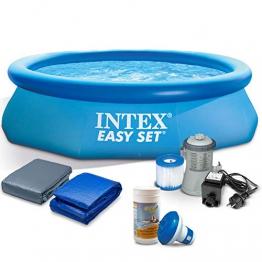 Global 7in1 Schwimmbecken Gartenpool mit Pumpe Pool 305 x 76cm mit Zubehör INTEX 28120 - 1