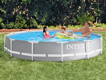 Global 7in1 Set Green Gartenpool Prism 366 x 76 cm Metal Frame Pool mit Filterpumpe 2006 L/Stunde INTEX 26710 - 3