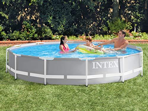 Global 7in1 Set Green Gartenpool Prism 366 x 76 cm Metal Frame Pool mit Filterpumpe 2006 L/Stunde INTEX 26710 - 3