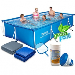 Global Gartenpool Set mit Zubehör 400 x 211 x 81 cm Frame Pool Bestway - 1