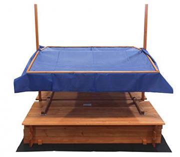 Home Deluxe - Sandkasten Buddelkiste - Mit verstellbarem Dach und Bodenplane - Maße: 130 x 120 x 120 cm - inkl. komplettem Montagematerial - 5