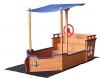 Home Deluxe - Sandkasten Matschekiste - Segelschiff inkl. Bodenplane - Maße: 160 x 78 x 103 cm - inkl. komplettem Montagematerial - 1